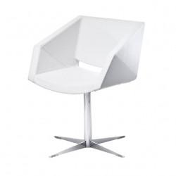 Chaise design Xonia pieds croix, Midj blanc