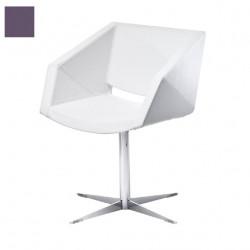 Chaise design Xonia pieds croix, Midj violet
