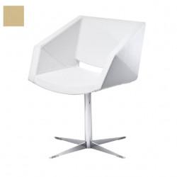 Chaise design Xonia pieds croix, Midj beige