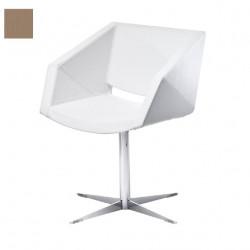 Chaise design Xonia pieds croix, Midj noisette