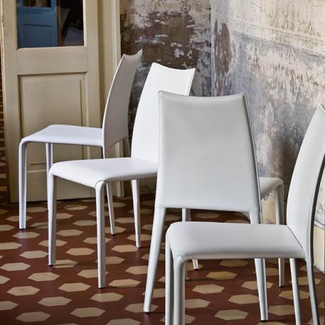Chaise design Miss, Midj blanc