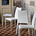 Chaise design Miss, Midj gris clair
