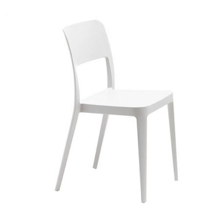 Chaise design Nene, Midj blanc