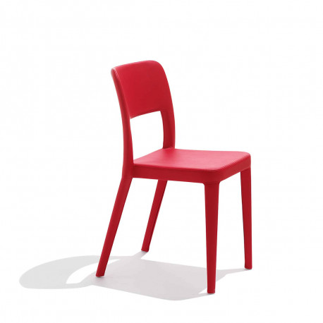 Chaise design Nene, Midj rouge
