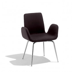 Chaise design Light, Midj noir