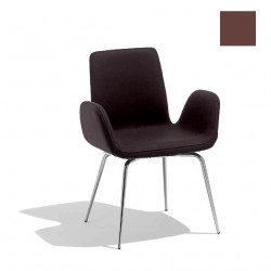Chaise design Light, Midj marron