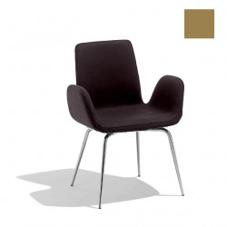 Chaise design Light, Midj noisette