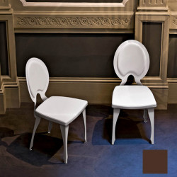 Chaise design Revolution, Midj marron