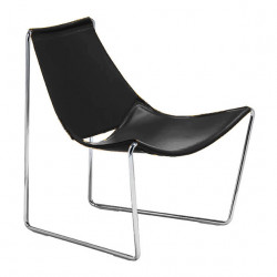 Chaise lounge Apelle AT, Midj noir