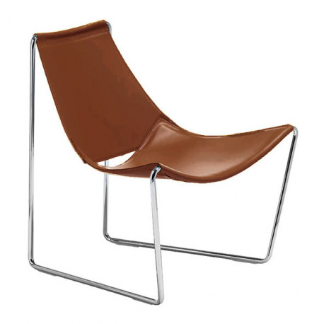 Chaise lounge Apelle AT, Midj marron