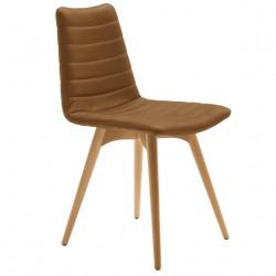 Chaise design Cover, Midj noisette pieds bois