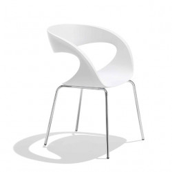 Chaise design Raff pieds simples, Midj blanc