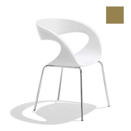Chaise design Raff pieds simples, Midj gris cendré