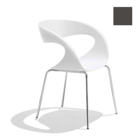 Chaise design Raff pieds simples, Midj gris foncé
