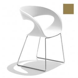 Chaise design Raff pieds doubles, Midj gris cendré