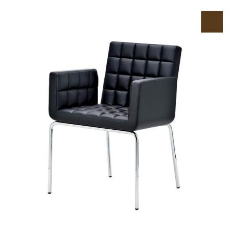 Chaise design Marsiglia, Midj marron