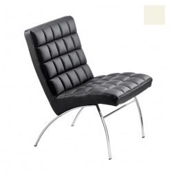 Chaise design lounge Marsiglia, Midj blanc