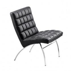 Chaise design lounge Marsiglia, Midj noir