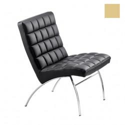 Chaise design lounge Marsiglia, Midj beige