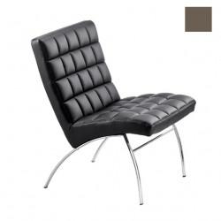 Chaise design lounge Marsiglia, Midj gris foncé
