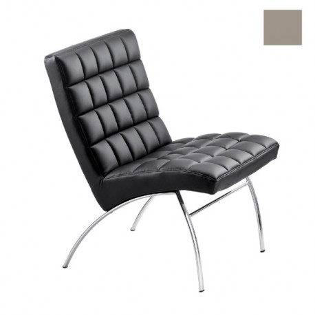 Chaise design lounge Marsiglia, Midj gris clair