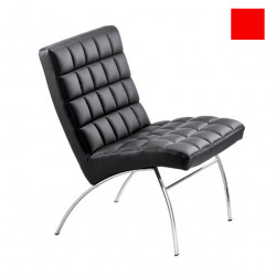 Chaise design lounge Marsiglia, Midj rouge