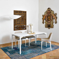 Table Armando rectangulaire, Midj blanc 200x100 cm