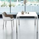 Table Armando carrée, Midj blanc 80x80 cm