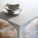 Table Armando carrée, Midj blanc 90x90 cm