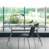 Table Brioso, Midj verre transparent 140x80 cm