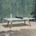 Table à manger ou Table de ping pong You & Me, RS Barcelona blanc 274x152,5 cm