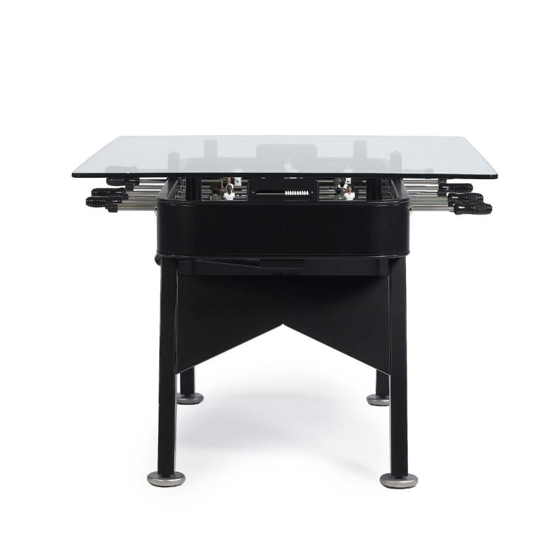 table manger baby foot rectangulaire rs barcelona noir hauteur 76 cm cerise sur la deco. Black Bedroom Furniture Sets. Home Design Ideas