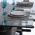 Table à manger baby foot rectangulaire, RS Barcelona noir Hauteur 76 cm