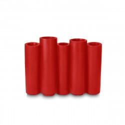 Jardinière Bamboo, Slide Design rouge Mat