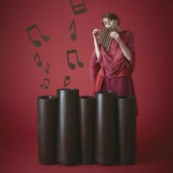 Jardinière Bamboo, Slide Design noir Mat