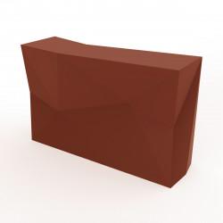 Bar central avec seau à glace Faz, Vondom bronze Mat
