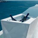 Bar central avec seau à glace Faz, Vondom blanc Lumineux LED RGB fil