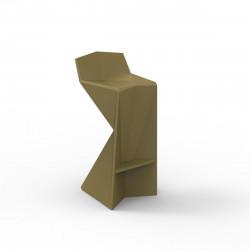 Tabouret design Vertex, Vondom kaki Mat