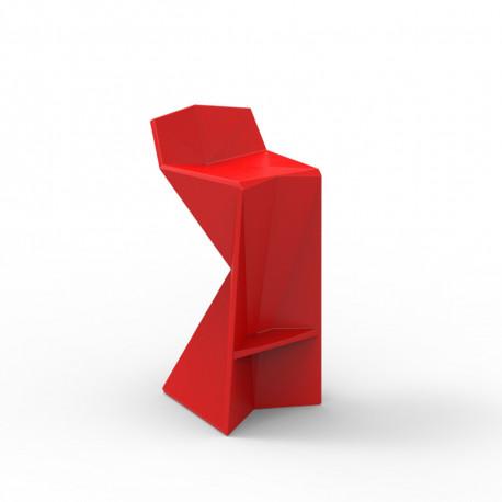 Tabouret design Vertex, Vondom rouge Mat