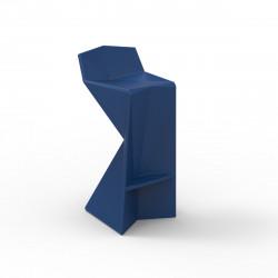 Tabouret design Vertex, Vondom bleu Mat