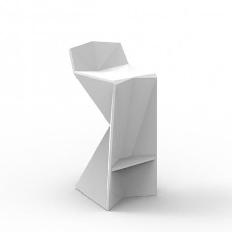 Tabouret design Vertex, Vondom blanc Lumineux LED blanc