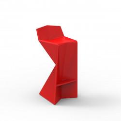Tabouret design Vertex, Vondom rouge Laqué