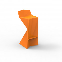 Tabouret design Vertex, Vondom orange Laqué