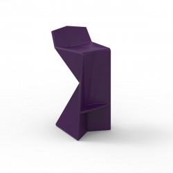 Tabouret design Vertex, Vondom violet Laqué
