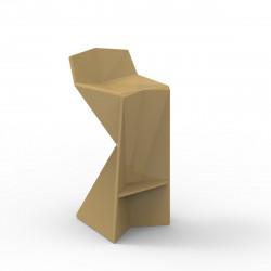 Tabouret design Vertex, Vondom beige Laqué