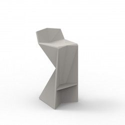 Tabouret design Vertex, Vondom taupe Laqué