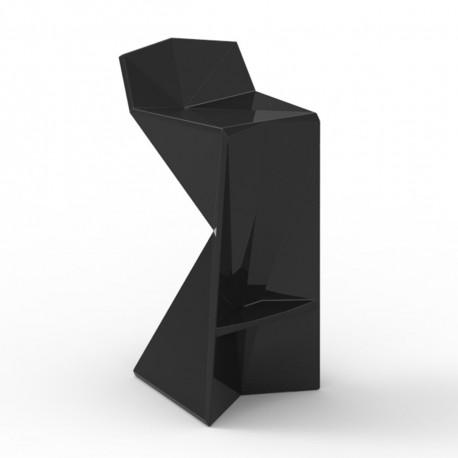 Tabouret design Vertex, Vondom noir Laqué