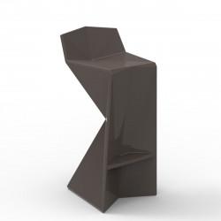 Tabouret design Vertex, Vondom bronze Laqué