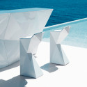 Tabouret design Vertex, Vondom blanc Lumineux LED RGB fil