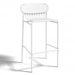 Tabouret design Week-end, Oxyo blanc